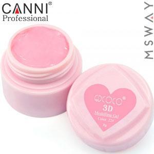 CANNI гель пластилин в баночке 3D Modelling Gel 8ml №22/782 нежно розовый