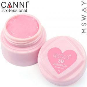 CANNI гель пластилин в баночке 3D Modelling Gel 8ml №22/782 нежно розовый, фото 2