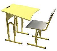 Парта одноместная + стул, Регулируемые, комплект НУШ