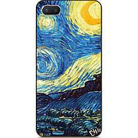 Чехол силиконовый бампер для Iphone 6 с рисунком Лунная ночь