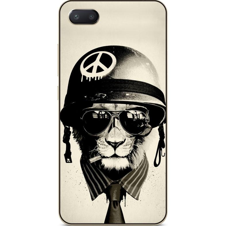 Чехол силиконовый бампер для Iphone 6 с рисунком Лев пацифист