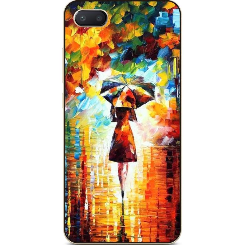 Бампер силиконовый чехол для Iphone 6 с рисунком Прогулка