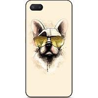 Бампер силиконовый чехол для Iphone 6 с рисунком Собака в очках