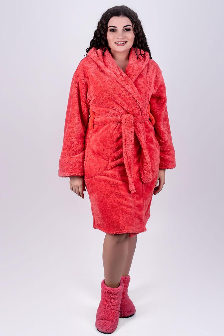 c7270e824737 Я-Модна - купить Женский махровый халат с капюшоном Тилли, короткий ...