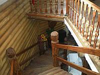 Лестница винтовая из массива сосны