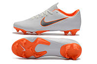 Футбольные бутсы Nike Mercurial Vapor XII Pro FG White/Metallic Cool Grey/Total Orange, фото 1