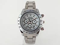 Механика Rolex Daytona ролекс механические часы мужские серебро с белым циферблатом копия