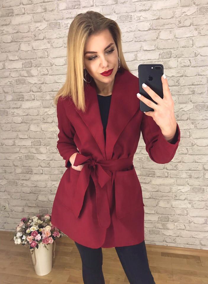 Легкое пальто из кашемира