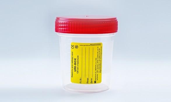 Ємність для забору сечі URI-BOX 120 мл стерильно