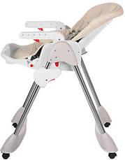 Стульчик для кормления Bambi M 3216-13 Бежевый, складной, регулируется спинка, фото 2
