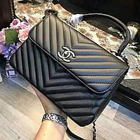 561ba51865cf Женская модная сумка копия Шанель Chanel качественная эко-кожа Китай черная