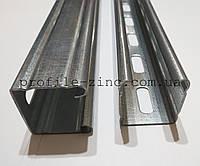 Перфорированный оцинкованный С профиль 9х9х41х41х41х9х9х2,0 (Zn 275) для монтажа солнечных панелей, фото 1