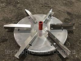 Тарелка разбрасывателя  удобрений нержавейка 6 лопаток