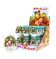 Шоколадные яйца с сюрпризом 25 гр Маша и медведь 24 шт