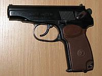 """СЭМ - Пистолет Макарова под патрон флобера """"ПМФ1"""" полированный с коричневой рукоятью, фото 1"""