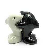 """Солонка с перечницей """"дельфины"""" (7х7х4 см)"""