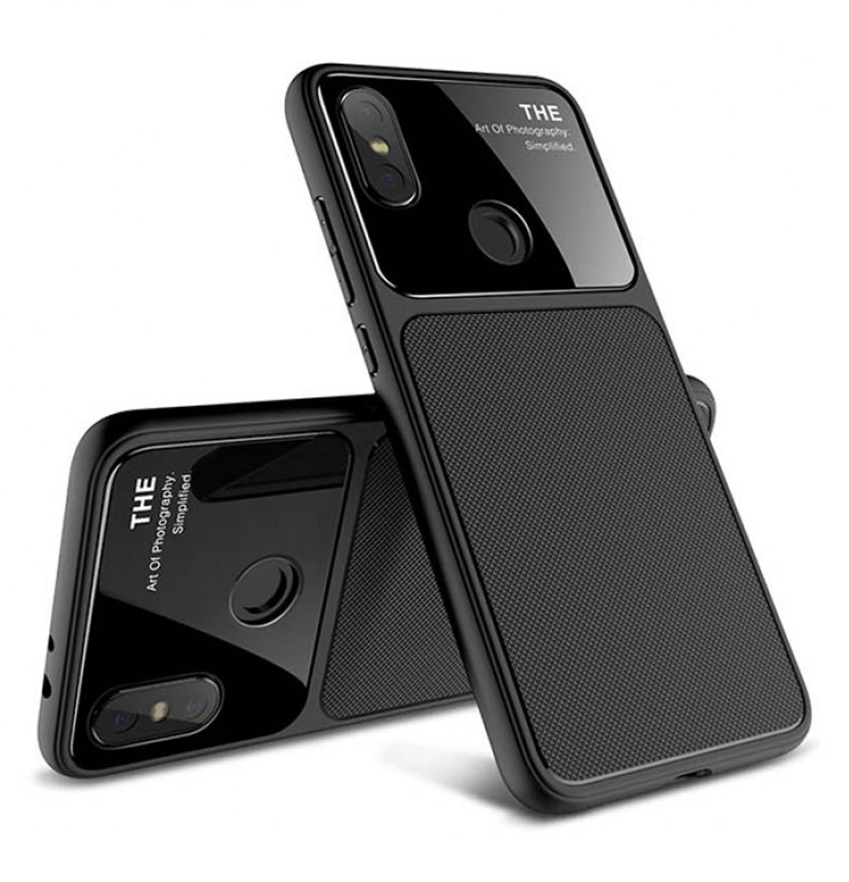 Противоударный TPU чехол Glossy Half для Xiaomi Redmi Note 6 Pro Black