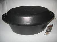 Гусятниця чавунна з чавунною кришкою-сковородою. V 5 л.