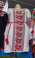 """Вышитое платье-туника трикотажное """" Оленка"""""""