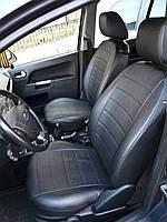 Чехлы на сиденья Опель Астра G (Opel Astra G) (модельные, экокожа Аригон, отдельный подголовник)
