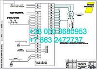 Б6507-4077 (ИРАК.656 151.007 )- схема  электрическая подключения электропривода