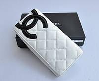 Chanel. Белый кожаный кошелек.