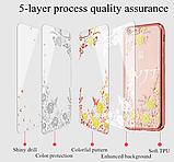 Силиконовый чехол с цветами для Huawei Honor 8X / Стекла в наличии, фото 5