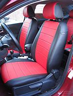 Чехлы на сиденья ВАЗ Лада Калина 2118 (VAZ Lada Kalina 2118) (модельные, экокожа Аригон, отдельный подголовник)