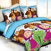 Viluta Детское стеганое покрывало Маша и Медведь 145*205 см