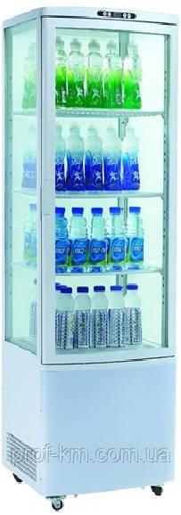 Шкаф-витрина холодильная EWT INOX RT280L (БН)