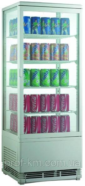 Шкаф-витрина холодильная EWT INOX RT98L (БН)