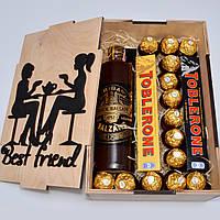 Подарочный набор для женщины. В деревянной коробке. Подарок сестре. Подарок маме. Подарок для подруги.