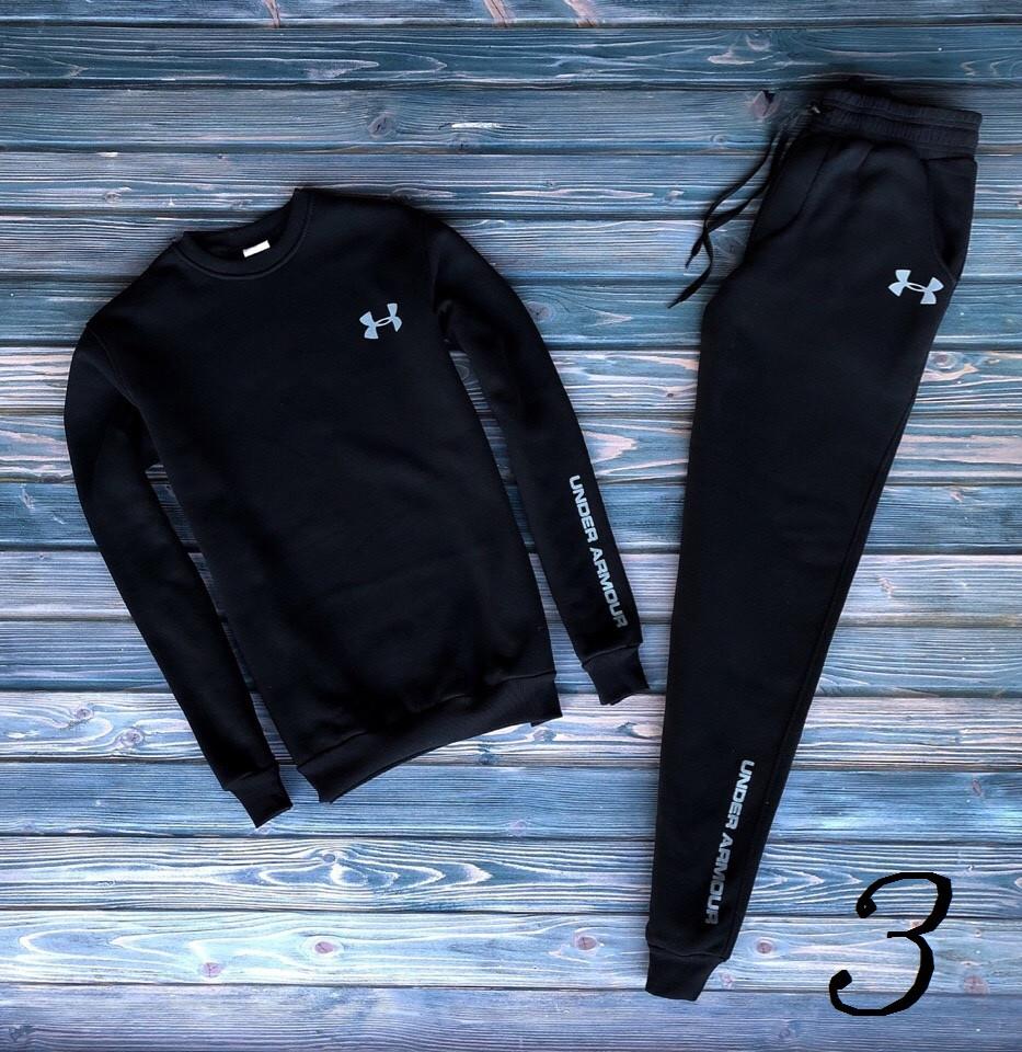 f6f27ca5 Мужской спортивный костюм Under Armour Черный Молодежный Свитшот+Штаны  Качественные Теплые