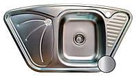 Кухонная мойка стальная Galati Meduza Nova Satin 4014 нержавеющая сталь + СИФОН