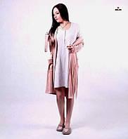 04afe0b0e918 Комплект женский велюровый халат на запах с ночной