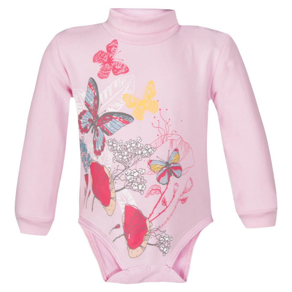 Детское боди для девочки «Красивые бабочки»