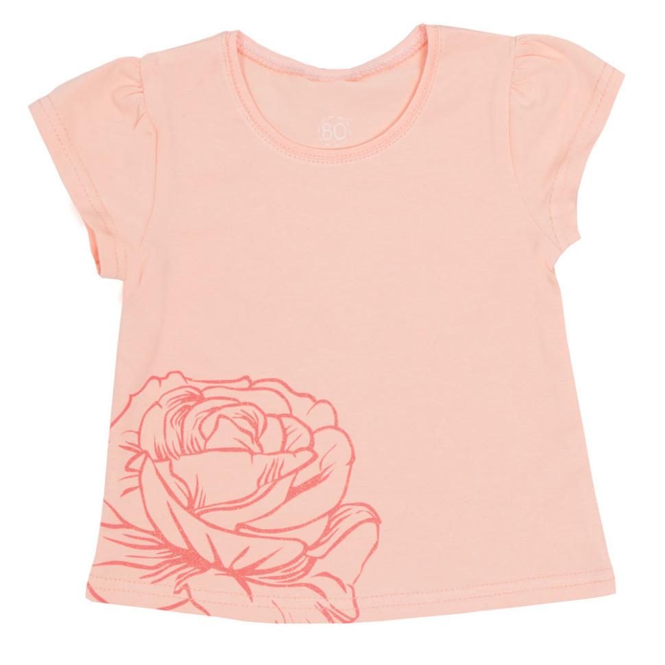 Детская футболка для девочки FT-R-2 «Розочки»