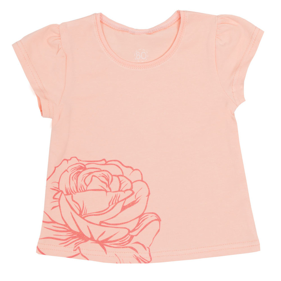 Детская футболка для девочки FT-R-2 «Розочки», фото 1