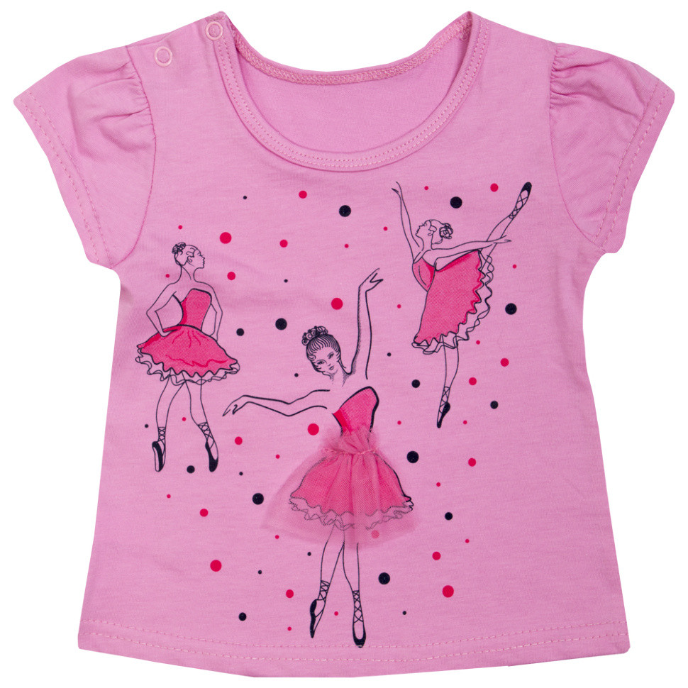 Детская футболка для девочки «Балерина»