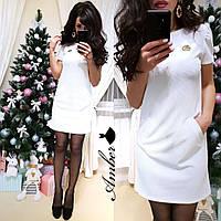 Платье из стрейч-трикотажа, размерs 42-44 и 44-46