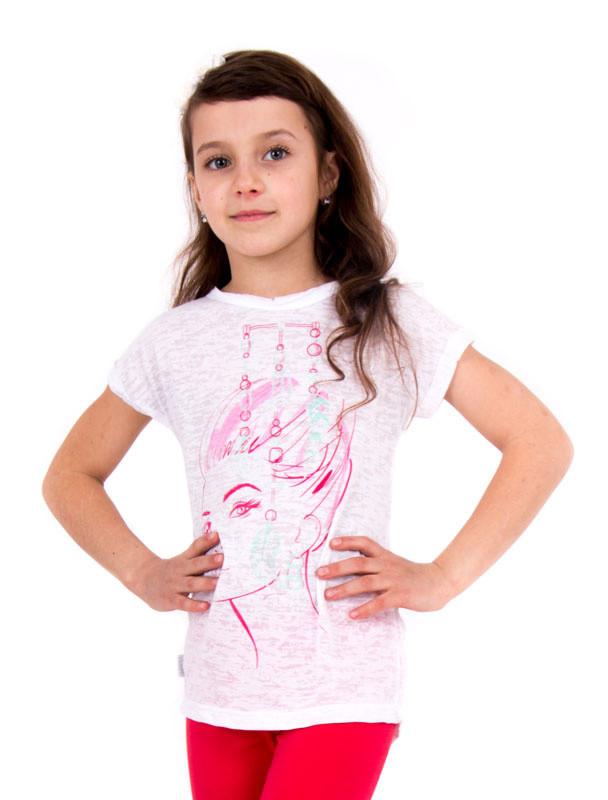 Детская футболка для девочки «Перья»
