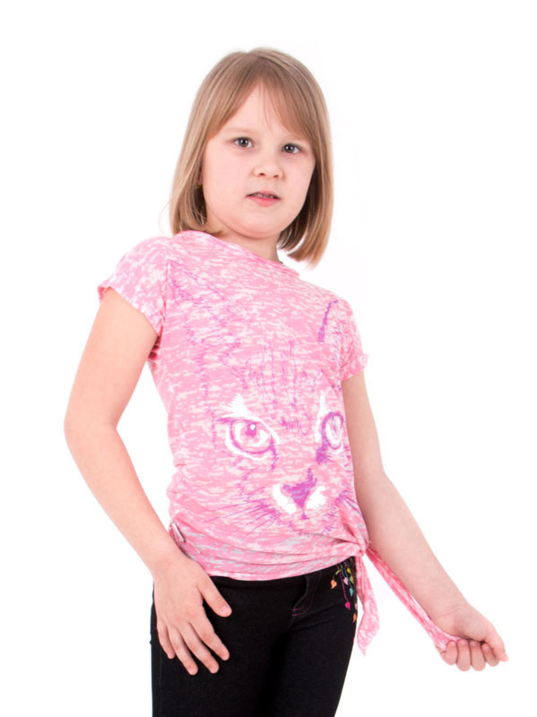 Детская футболка для девочки «Взгляд»