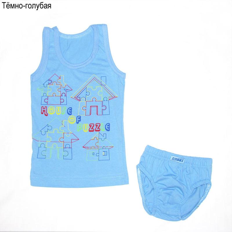 Детский комплект белья для мальчика «Пазлы»