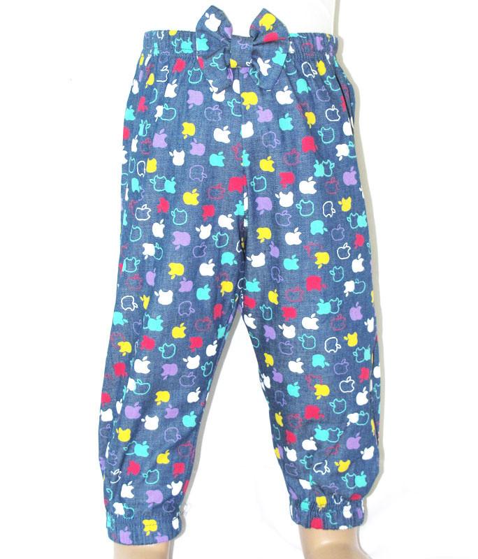 Детские брюки для девочки «Яблочки»