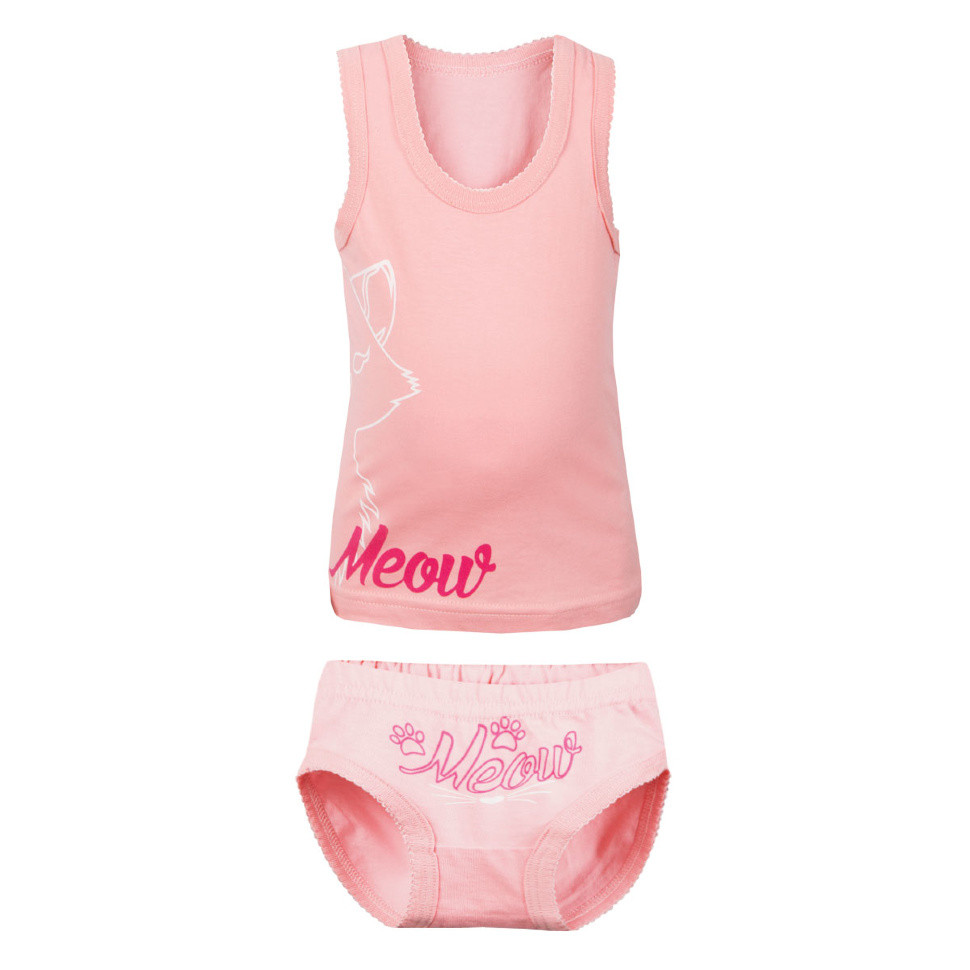 Детский комплект белья для девочки «Мяу»