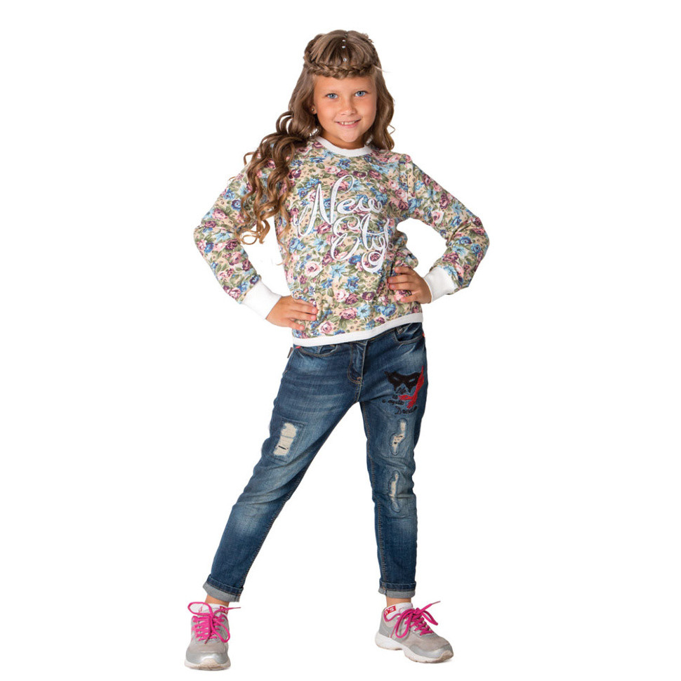 Детский джемпер для девочки «Хвостик»