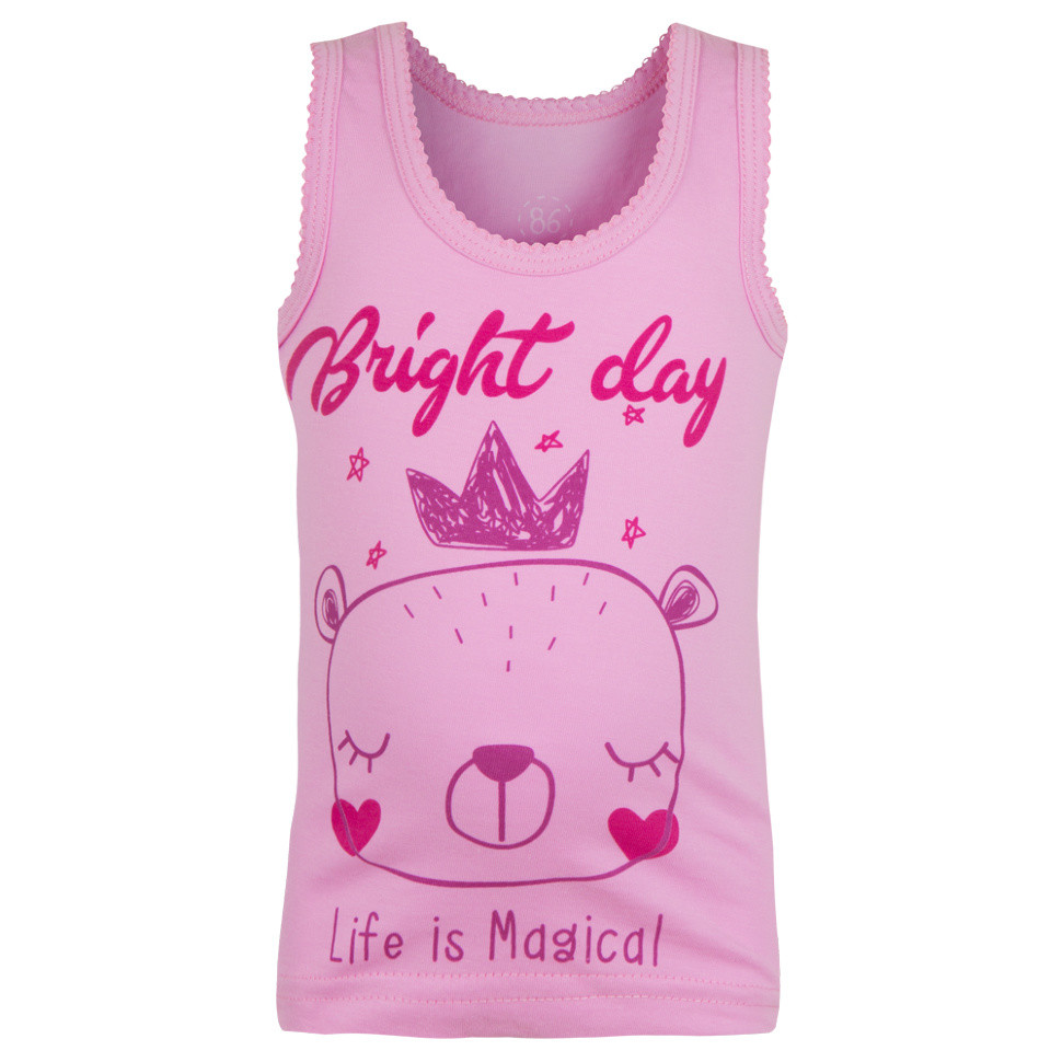 Детская майка для девочки «Мишка-принцесса»