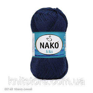 Пряжа Nako Mia Темно-синий
