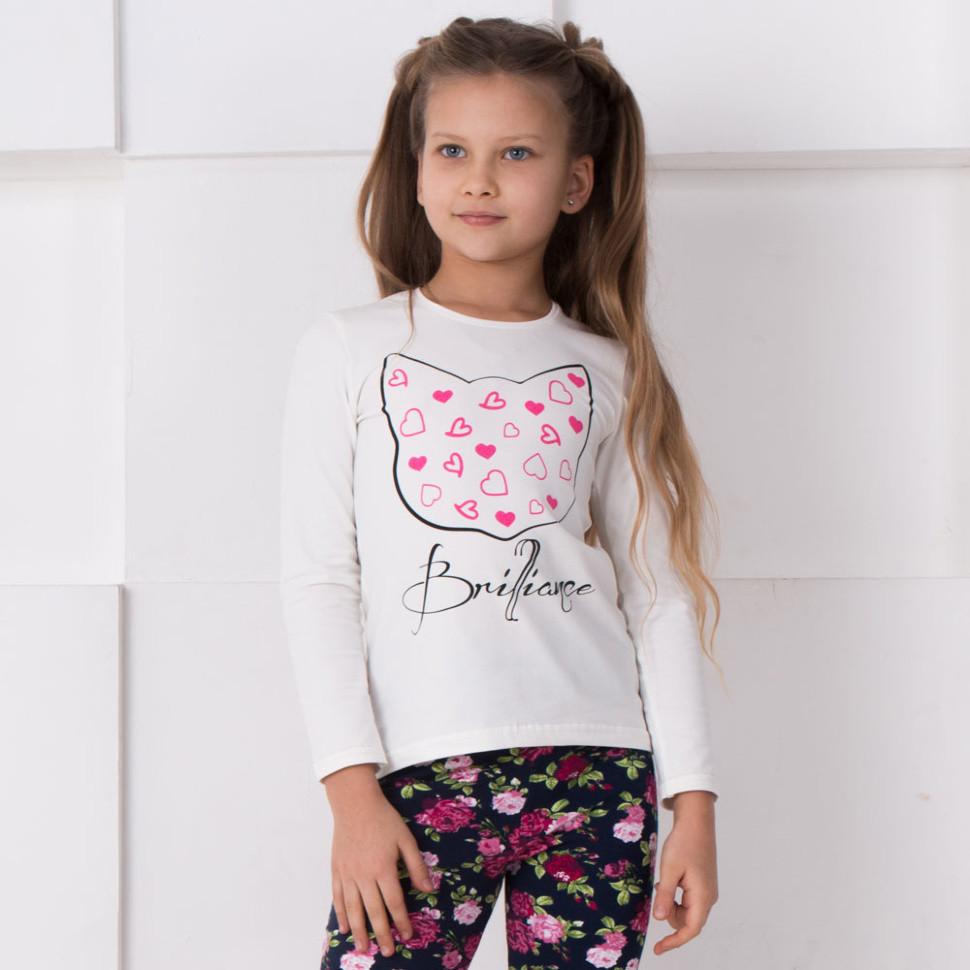 Детская футболка с длинным рукавом для девочки FT-В-1 «Блеск»