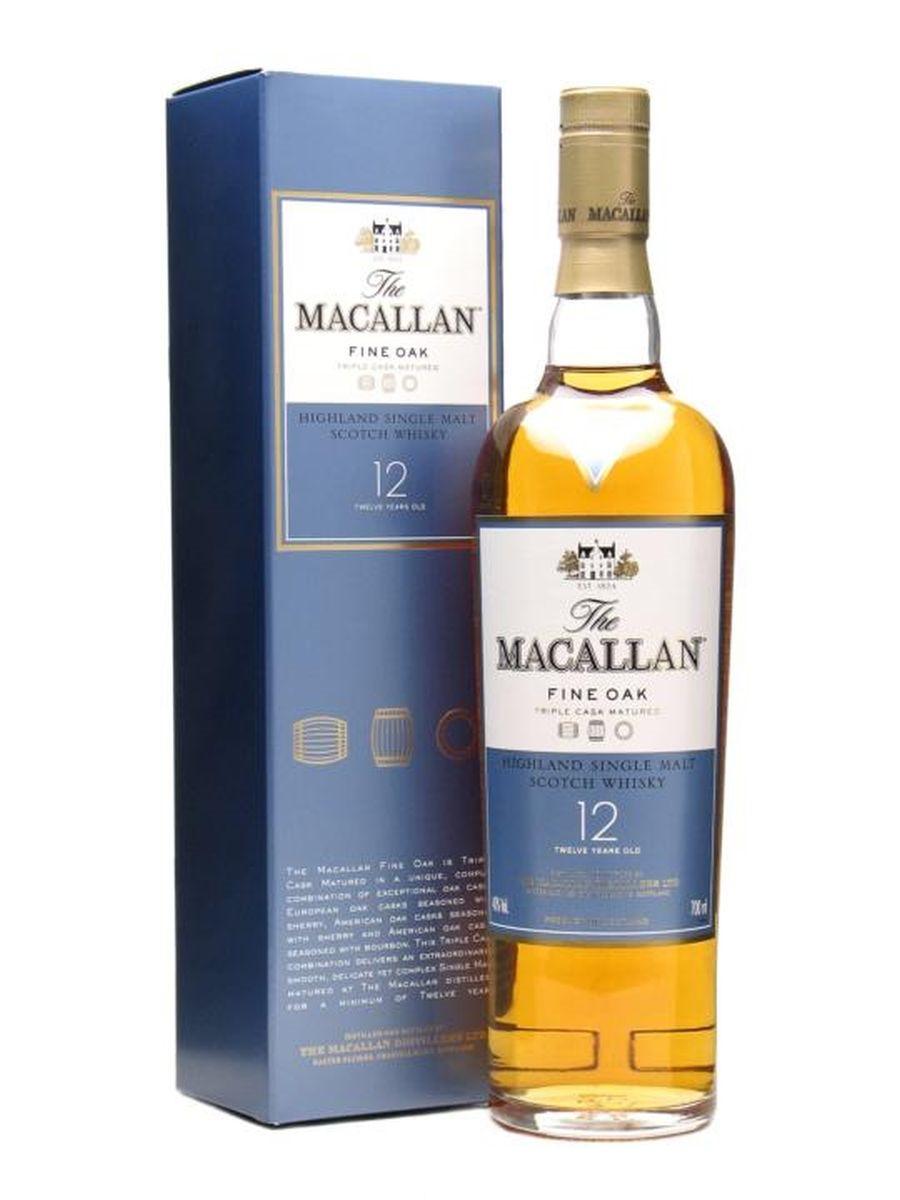 Односолодовый виски Macallan  12 лет выдержки 0.7 литра